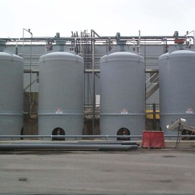 Contact Molded Skirt Support FRP Tanks