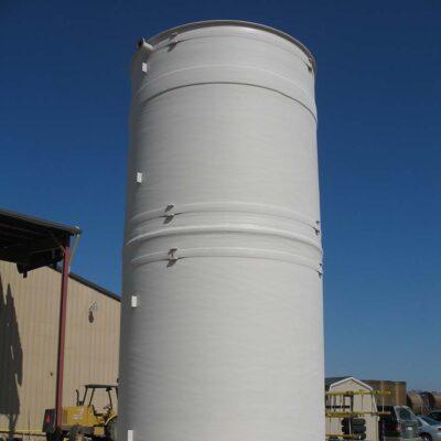 Open Top Vertical Sidewall Flat Bottom FRP Tank Hydrotest