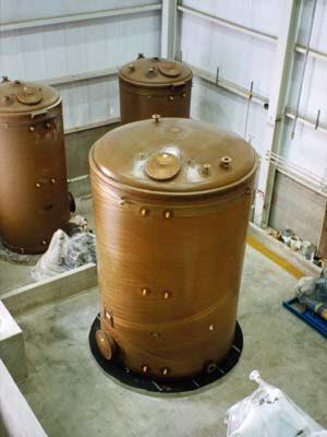 Vertical Filament Wound FRP Tanks